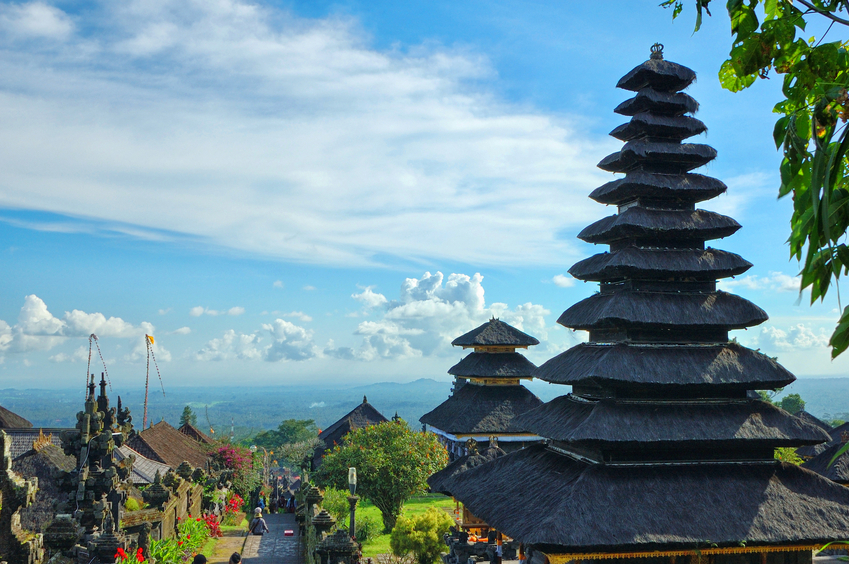 Old oriental temple Mother Besakih from Bali, Indonesia.