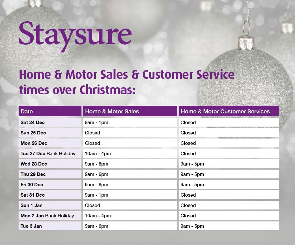 Home and motor Christmas open hours