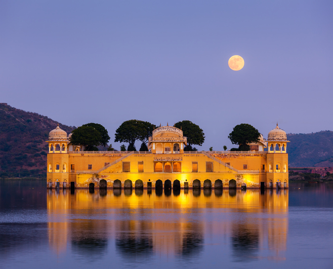 Jal Mahal (Water Palace). Jaipur, Rajasthan, India