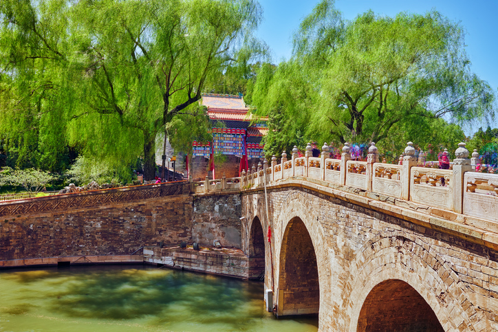 Beautiful Beihai Park, near the Forbidden City, Beijing.