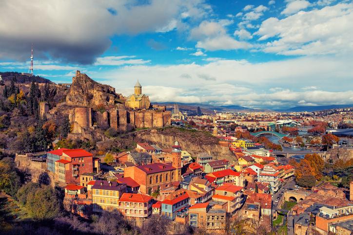 Tbilisi at sunset