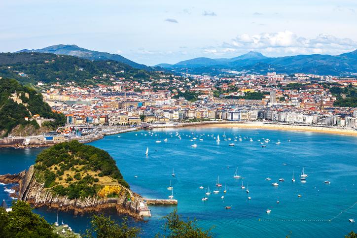 View to San Sebastian, Spain.