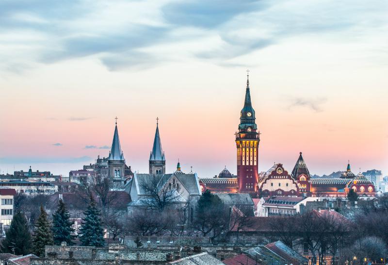 Subotica cityscape, Vojvodina, Serbia