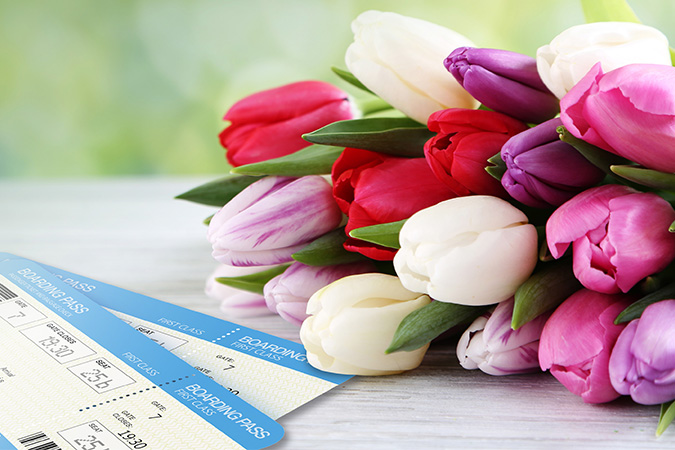 Mother's Day flowers and the gift of travel