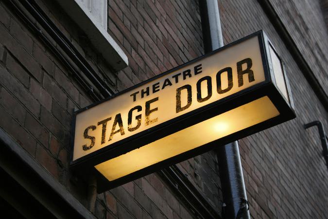 London theatre stage door