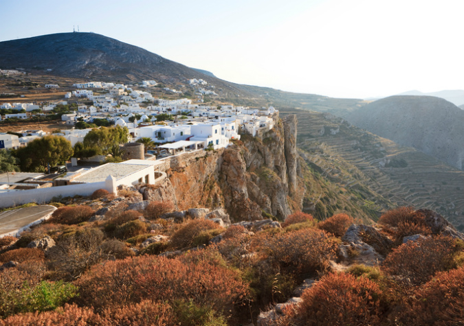 Chora on the island of Folegandros
