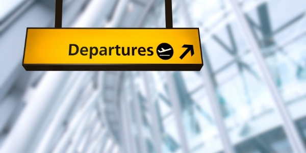 departures sign at airport