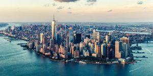 new york skyline at twilight
