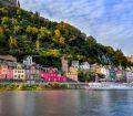 Cohem castle above river cruise