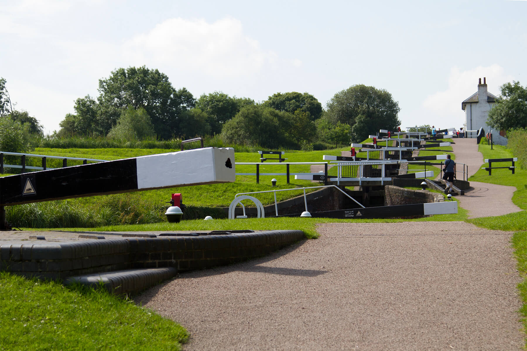 Foxton Locks in Leicestershire
