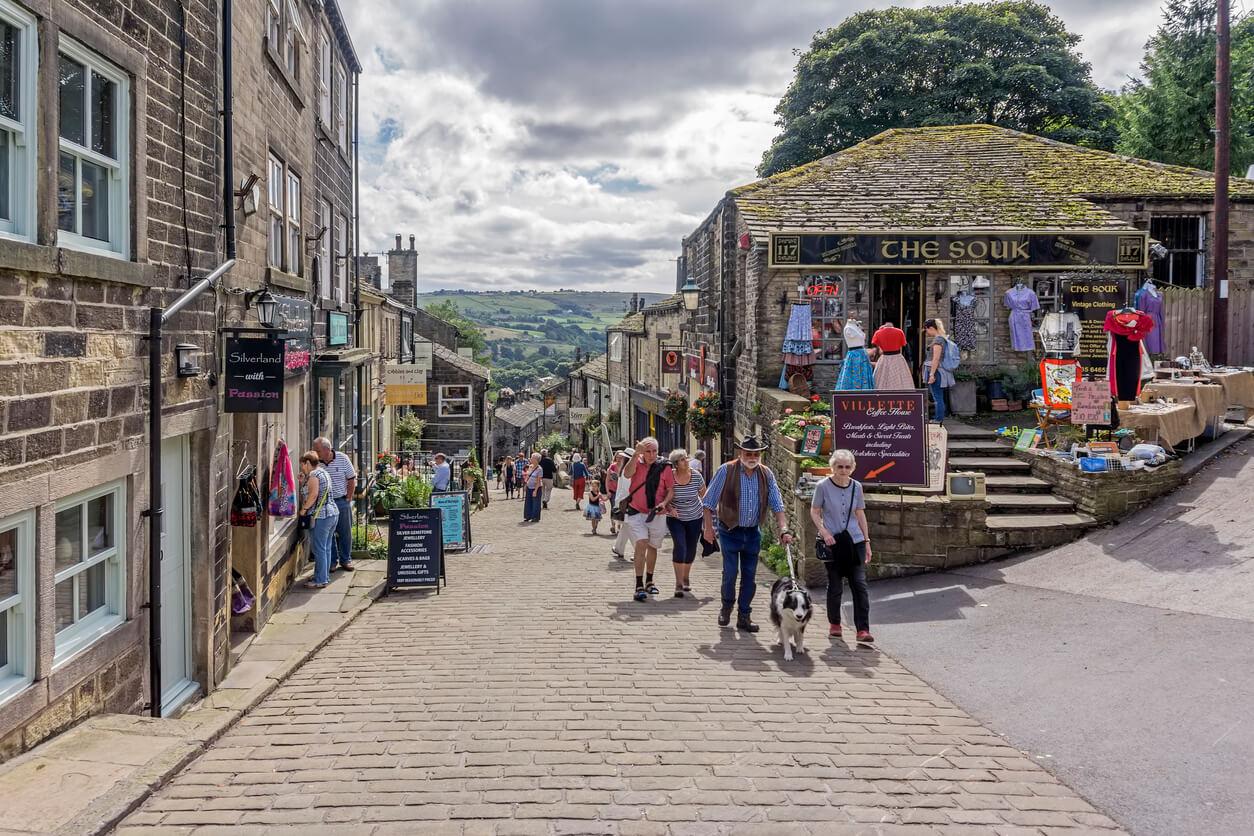 Haworth street in Yorkshire