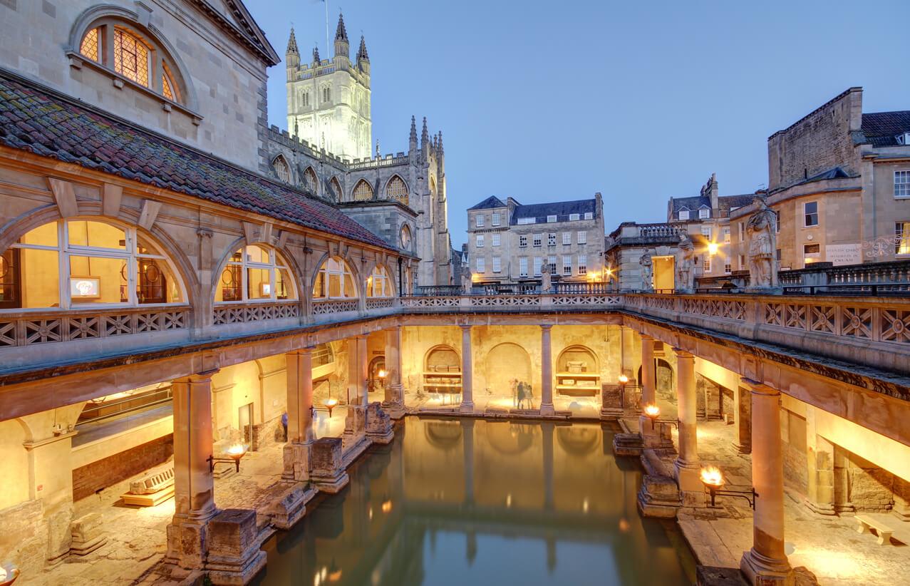 Bath - view over the Roman Bath
