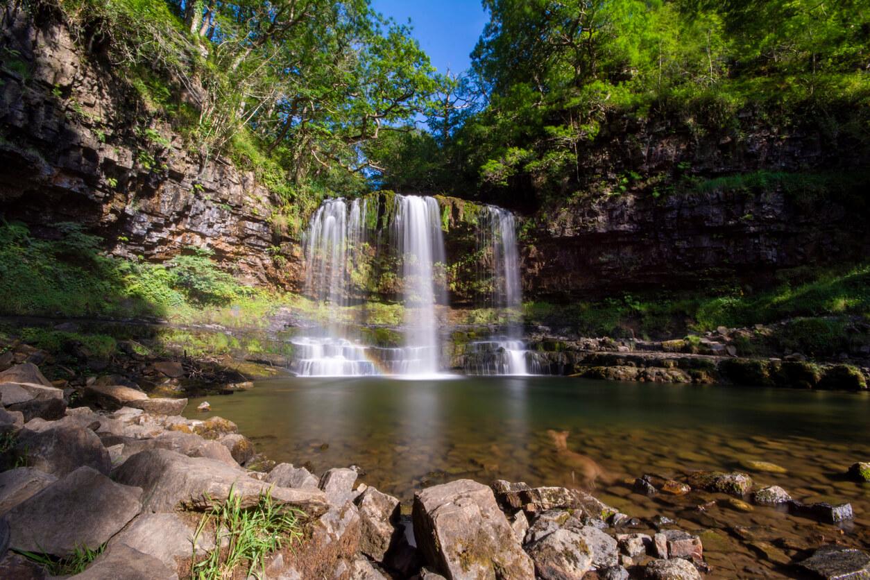 Sgwd Yr Eira Waterfall in Breacon Beacons