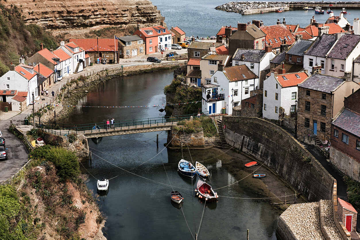 Staithes fishing village in Yorkshire