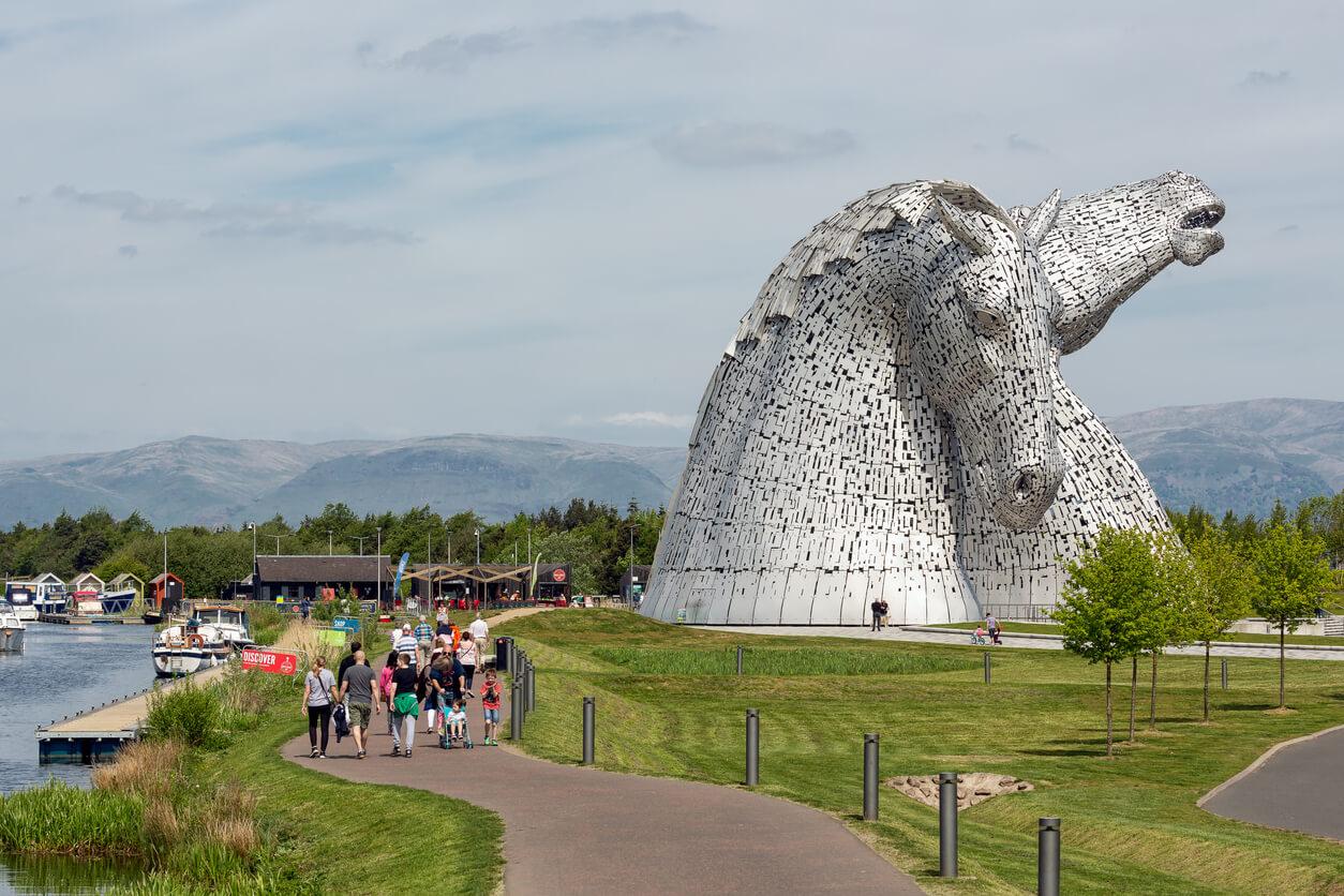 The Kelpies in Falkirk
