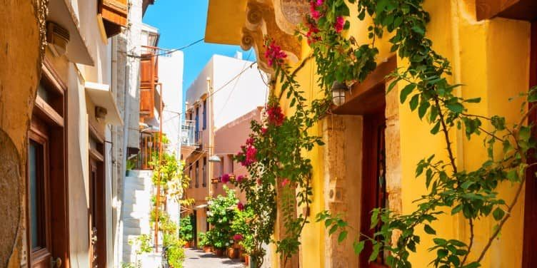 an image of Chania Street in Crete