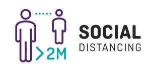 2 meter social distancing graphic