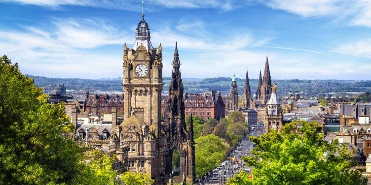 View of Edinburgh from Carlton Hill