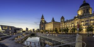 View of Pier Head in Liverpool