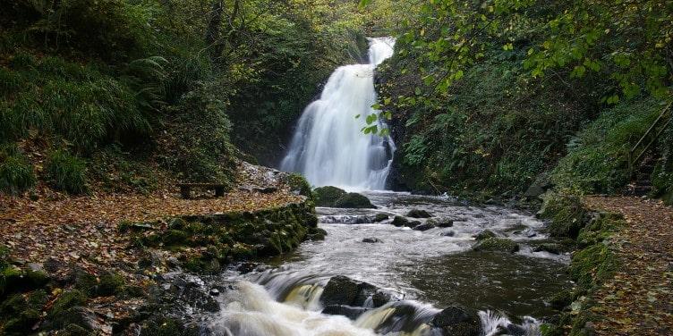Gleno Waterfall in Northern Ireland