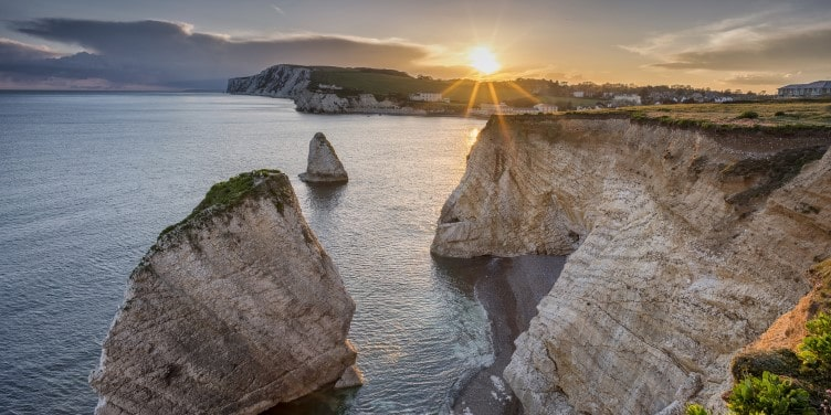 Freshwater Bay, Isle of Wight at sundown