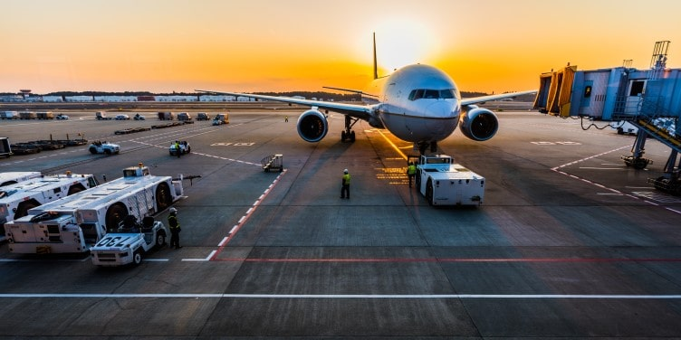 View of plane in airport