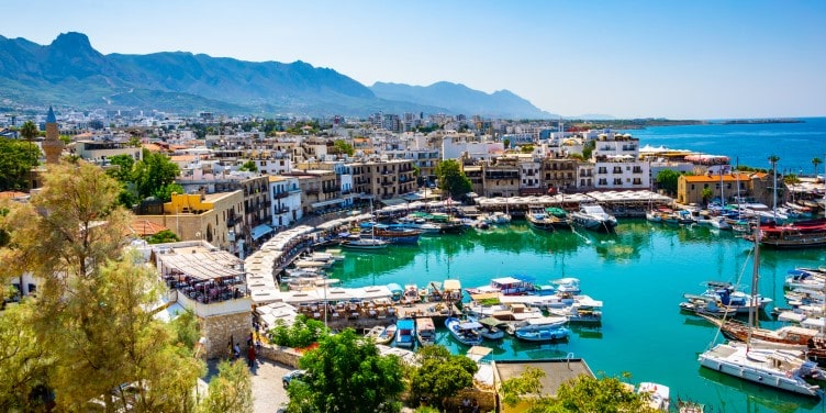 View of the port in Kyrenia, Cyprus