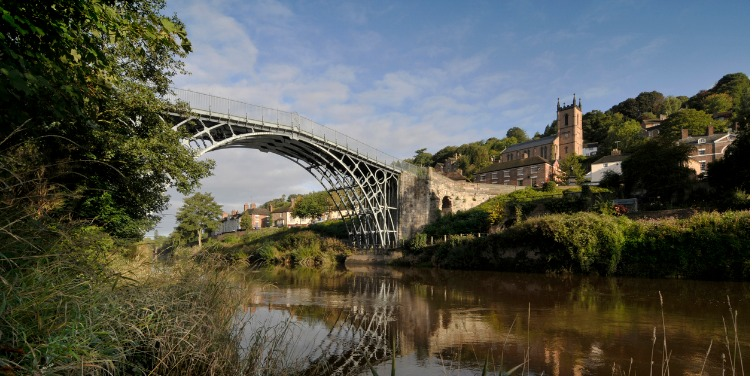 an image of the bridge at Ironbridge Gorge, Shropshire, a World Heritage Site