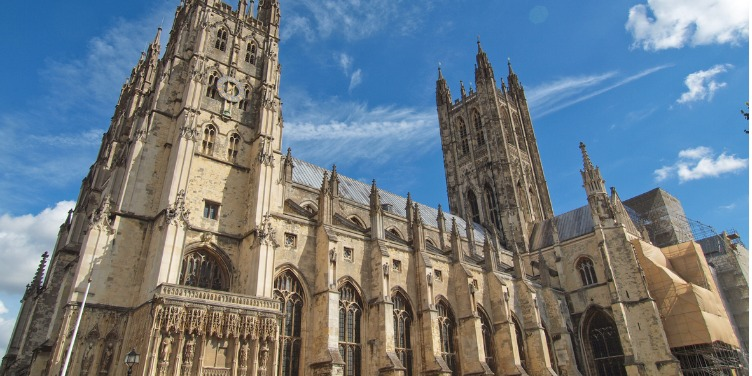 an image of Canterbury Cathedral, a World Heritage Site in Kent