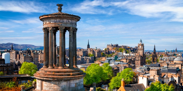 an image of Edinburgh, a World Heritage Site, taken from Calton Hill