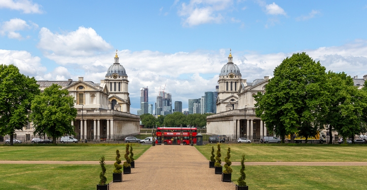 an image of the Royal Hospital for Seamen in Greenwich, part of the Maritime Greenwich World Heritage Site