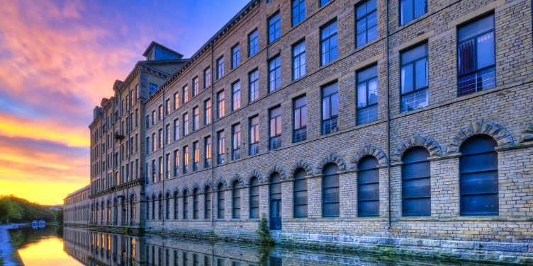an image of Salts Mill, part of a World Heritage Site in Bradford