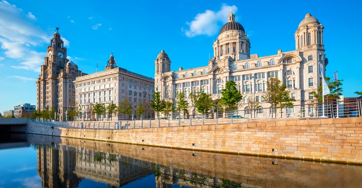 an image of Pier Head in Liverpool, part of the Liverpool - Maritime Mercantile City, a World Heritage Site