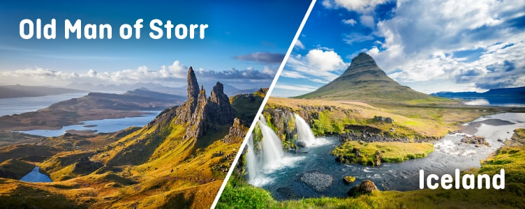 Old Man of Storr looks like Iceland