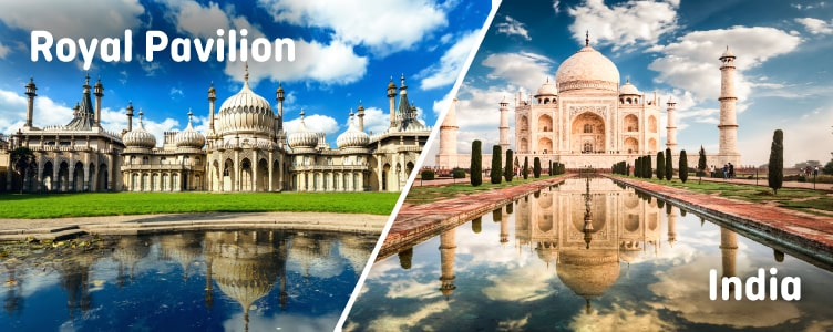 Royal Pavilion looks like India