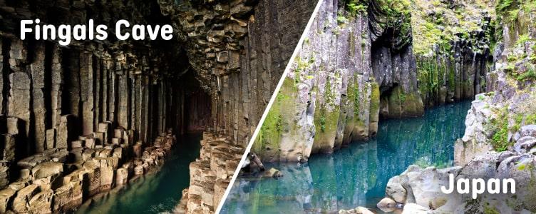 Fingals Cave looks like Japan