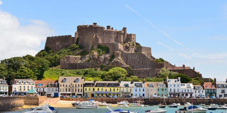 an image of Gorey and Mont Orgueil castle in Jersey