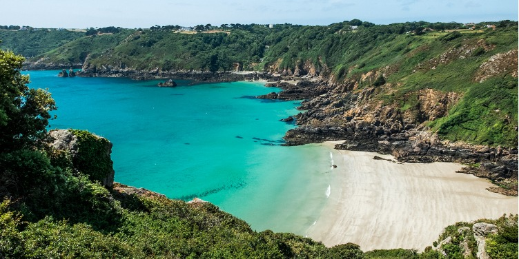 an image of Moulin Huet Bay in Guernsey