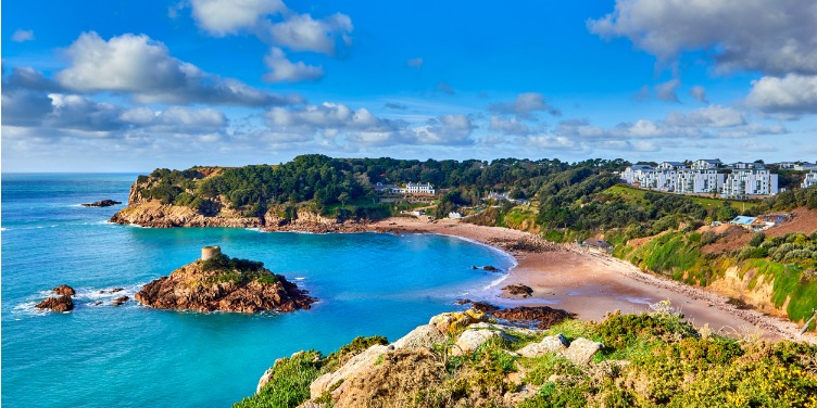 an image of Portelet Bay and beach view in Jersey
