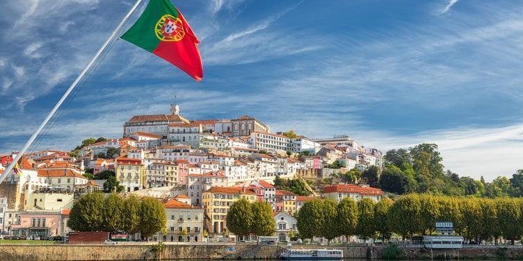 Old university city of Coimbra in Portugal