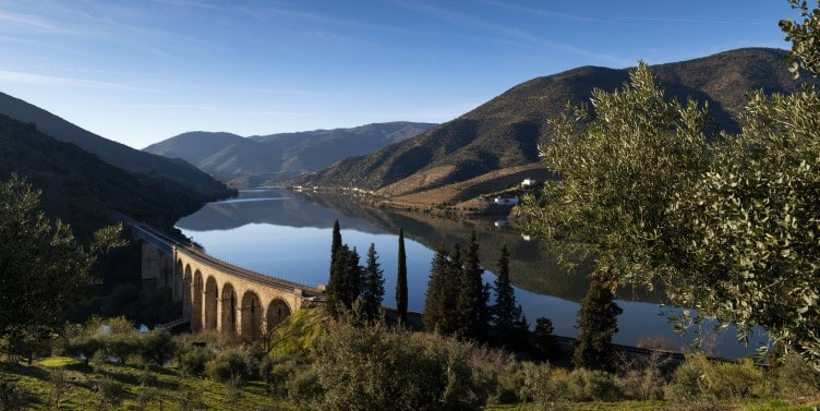 View of Douro River in Portugal