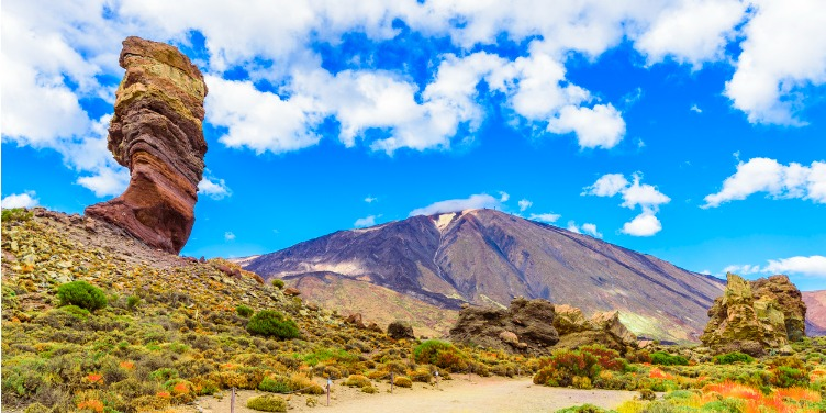 an image of Roques de Garcia formation in Teide National Park