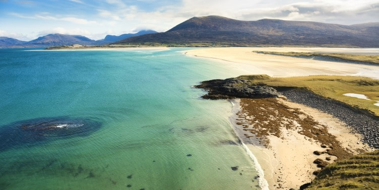 Views of the Outer Hebrides coastline in Scotland