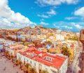 Views over buildings in Old Las Palmas in Gran Canaria