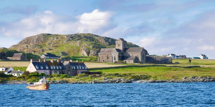 View of Iona Abbey on the Isle of Iona