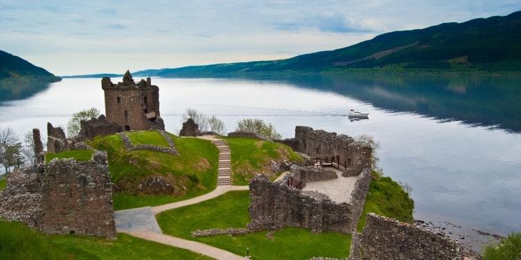 Urquhart Castle overlooking Loch Ness