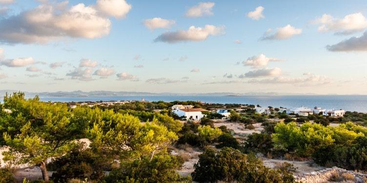 Landscape view of Formentera