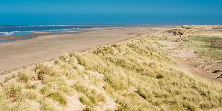Sand dunes and nature reserve along Holkham Beach