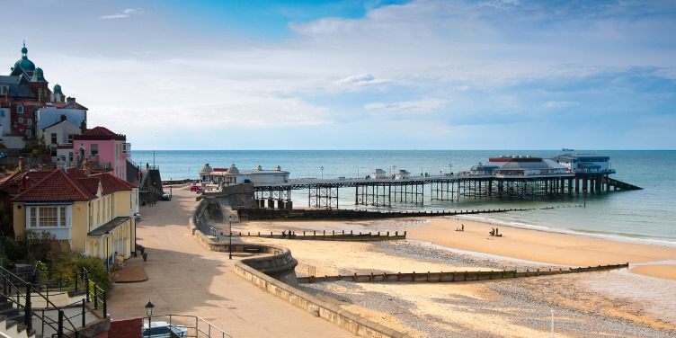 View of the promenade and pier at Cromer, Norfolk