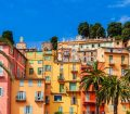 Menton old town in France